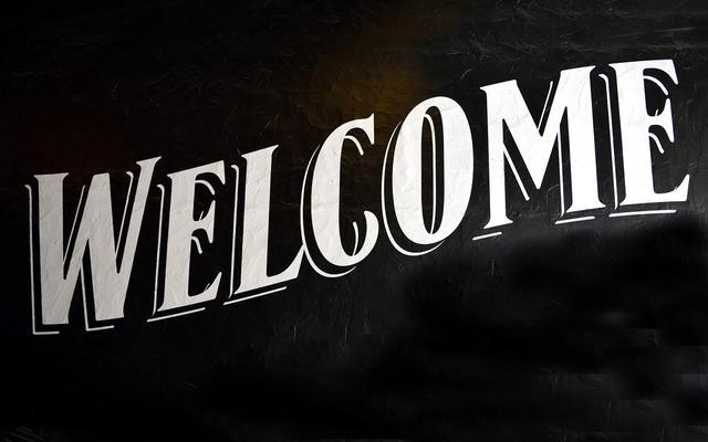 welcome chalk board